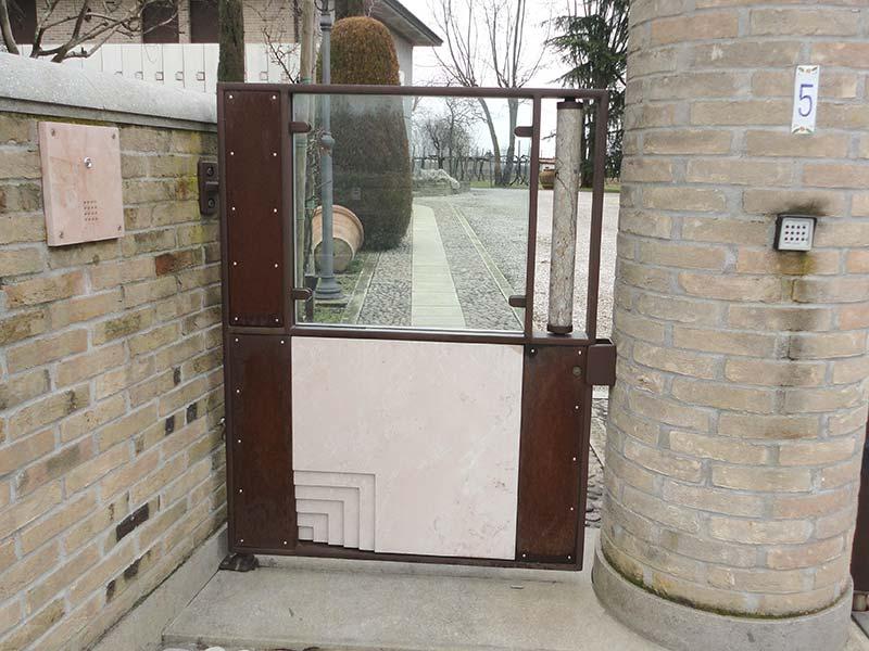Cancello pedonale allufit for Cancello scorrevole leroy merlin